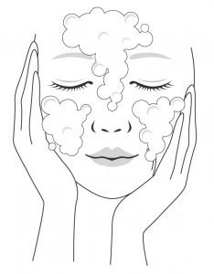 泡洗顔のやり方