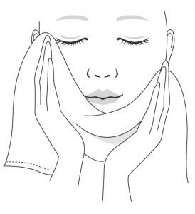 洗顔後のタオルでの拭き方